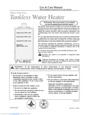 richmond water heater owners manual